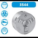 3544-160-4 | BISON ZELFCENTRERENDE 3-KLAUW 160 MM STAAL CAMLOCK D1-4 (DIN 55029)