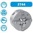 3744-250-8 | BISON ZELFCENTRERENDE 4-KLAUWPLAAT 250 MM STAAL DIN 55029 CAMLOCK D1-8